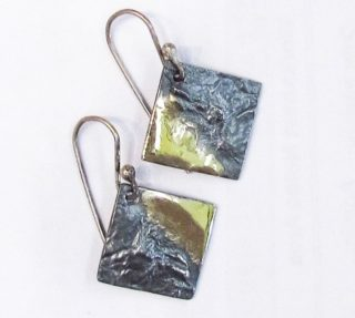 Sterling Silver and Gold Earrings