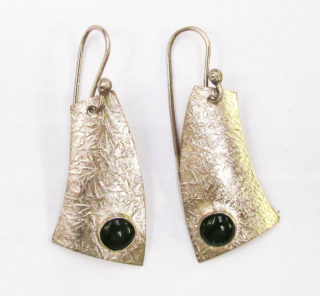 Sterling Silver and Pounamu Earrings