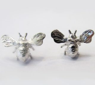 Sterling Silver Jewellery Insect Bee Studs