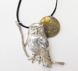 Sterling Silver and Bronze Bird Pendant Jewellery